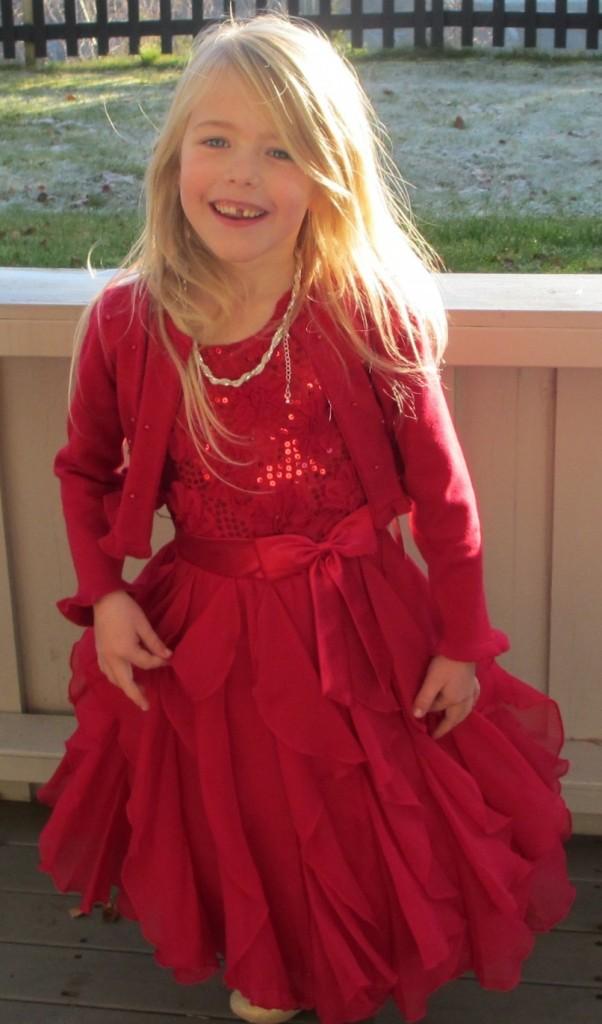 e2f05a9343d Pascal kjole med sløyfe rød | Barnebutikk på nett