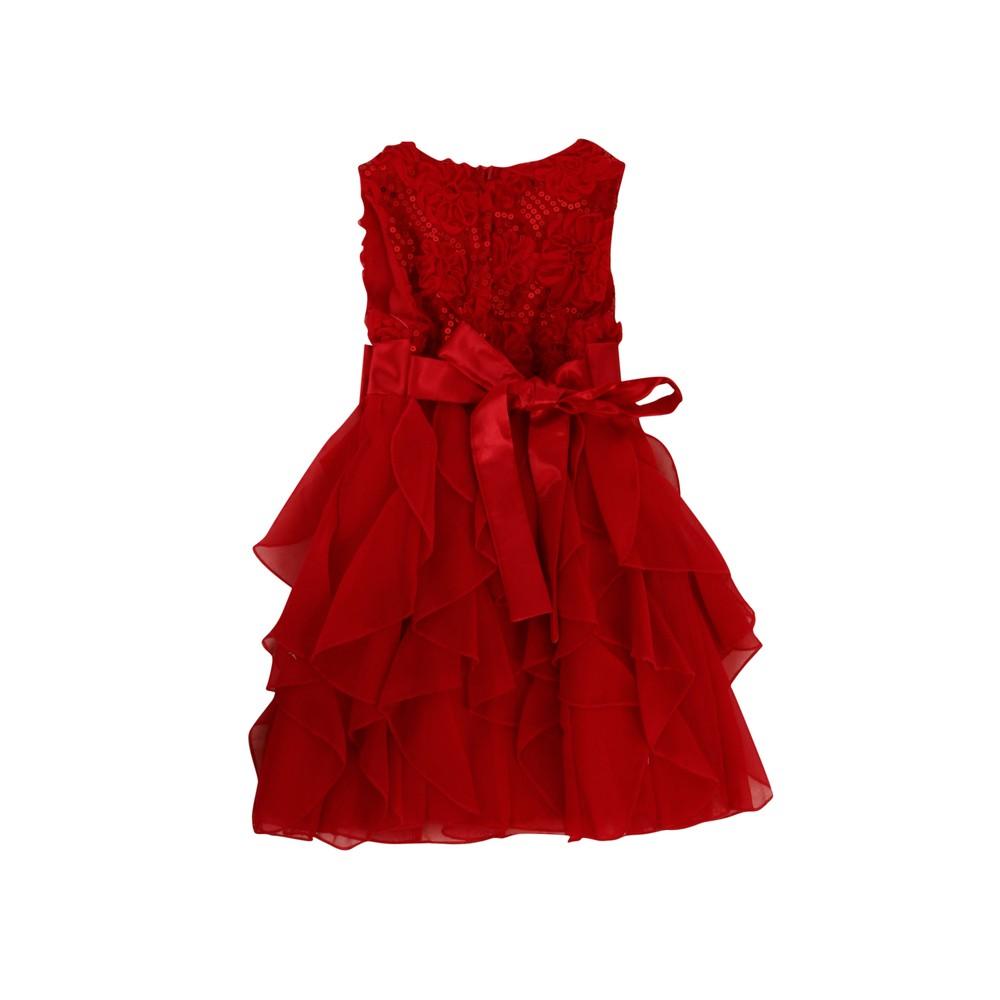 58adce9d Pascal kjole med sløyfe rød | Barnebutikk på nett