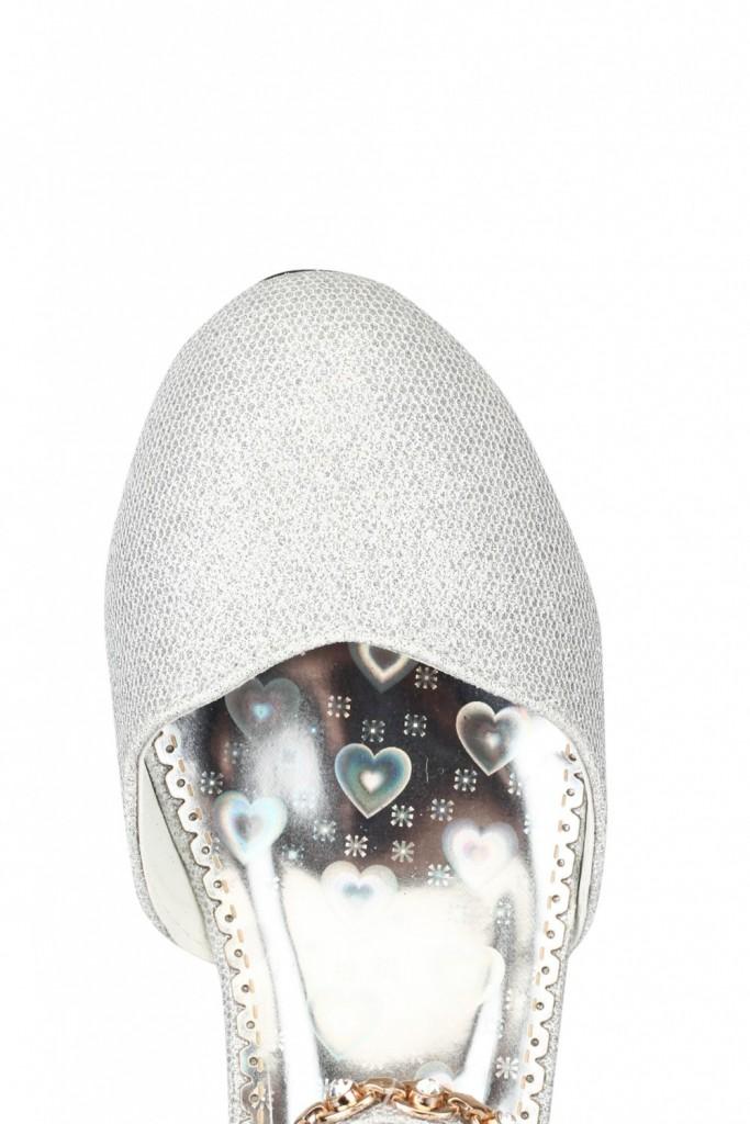Sølv Pascal høyhælte sko til barn  