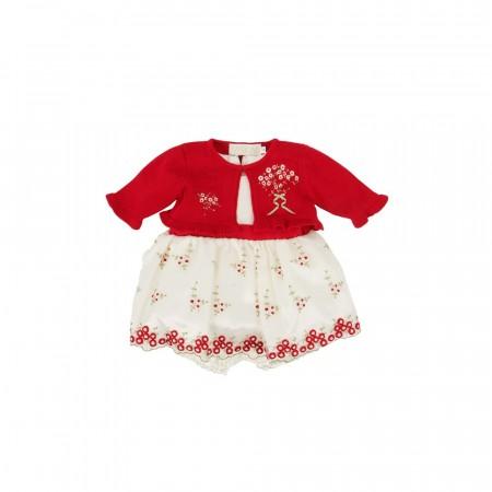02874b65bb3a Pascal baby julekjole til baby med bolero