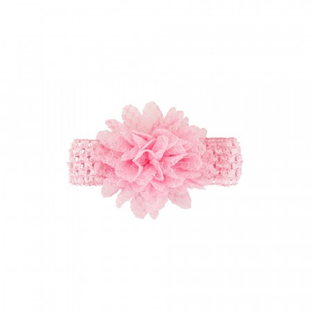 ec01b067f579 Pascal heklet hårbånd med blomst rosa
